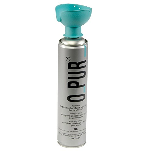 Atemhilfe O-PUR®, reiner Sauerstoff, Sauerstoffmaske, Sauerstoffflasche 8 L Dose