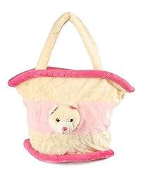 PINK MEDIUM BASKET BAG - 40 CM