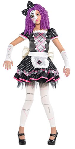 Amscan Girls Halloween Gothic Doll Kostüm Small (4 - 6 - Spooky Doll Kostüm