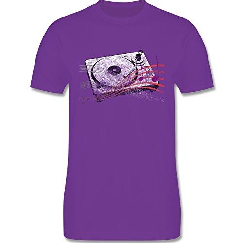 Music - Turntable - L190 Herren Premium Rundhals T-Shirt Lila