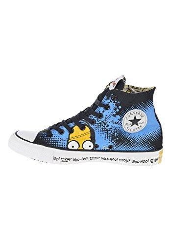 Chuck taylor all star blue hi simpsons Noir - Schwarz Blau Gelb