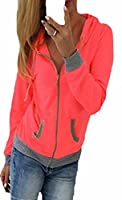Generic Womens Fashion Casual Hoodie Outerwear XS Rose Red