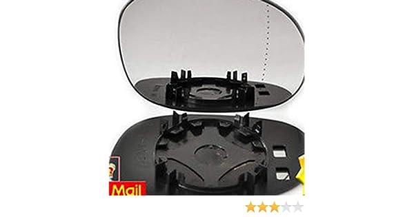Lorenlli Verre de miroir de porte grand angle c/ôt/é conducteur droit pour CITROEN C3 2002-2010