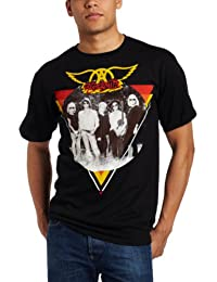 Fea Merchandising Men's Aerosmith Triangle Circle Photo Men Tee