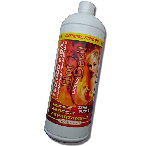 HOT DEVIL Liquid | 100% VEGAN L-Carnitin 150.000mg | 1Liter EXTRA STARKES Carnitine | FATBURNER mit Inulin+Oligofructose | schnell Abnehmen
