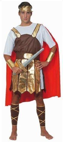 Herren Erwachsene römische Soldat Krieger Toga Gladiator Kostüm Kleid Outfit