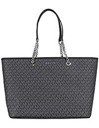 f0f7635affa7da MICHAEL Michael Kors Womens Jet Set Organizational Tote Handbag Black Large