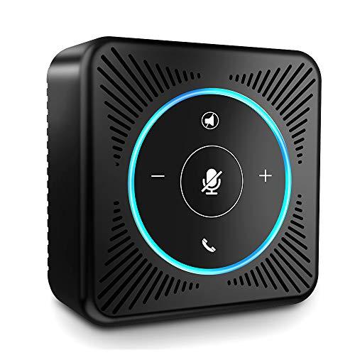 USB Konferenzlautsprecher - eMeet M0 Konferenztelefon für Treffen von 8-10 Personen 4 AI Mikrofon Arrays Freisprecheinrichtung Business Speakerphone für Skype, VoIP-Kommunikation mit PC Plug and Play Led-array