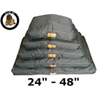 "Ellie-Bo Waterproof Dog Beds in Black - Tailor made to fit cages and crates (40"" - Fits 42"" Extra Large Dog Cage)"