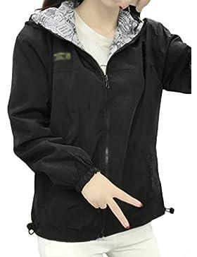 Baymate Mujer Otoño Primavera Chaqueta Con Capucha Moda Suelto Trench Coat Mangas Largas Moda Abrigo