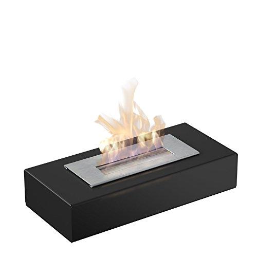 Bio Ethanol Kamin Palermo Mini mit sicherem Brennsystem, TÜV geprüft, Farbe: Schwarz