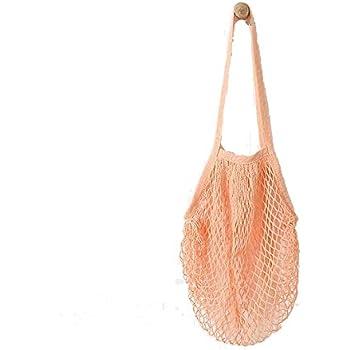 Rameng Shopping En Filet Sac Coton Réutilisable Poche de Fruits- 38cmx 48.2cm (Bleu) KVuSNH7l