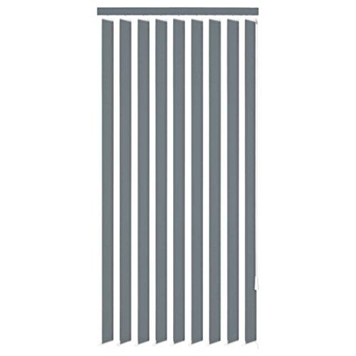 Vidaxl 242854 - tenda a pannello verticale, in tessuto, 120 x 250 cm, colore: grigio