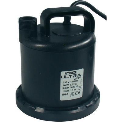 Sicce Teich Pumpe Ultra Zero, 10 m Kabel, Schwarz, 3000 liter/stunde (Utility-hand-pumpe)