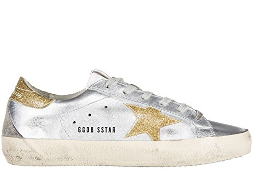 Golden Goose scarpe sneakers donna in pelle nuove superstar argento EU 37 G27D121 A26