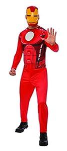 Marvel - Disfraz de Iron Man para hombre, Talla XL adulto (Rubie