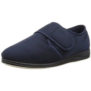 Padders Plus Charles, Men Low-Top Slippers, Blue (24 Navy), 12 UK