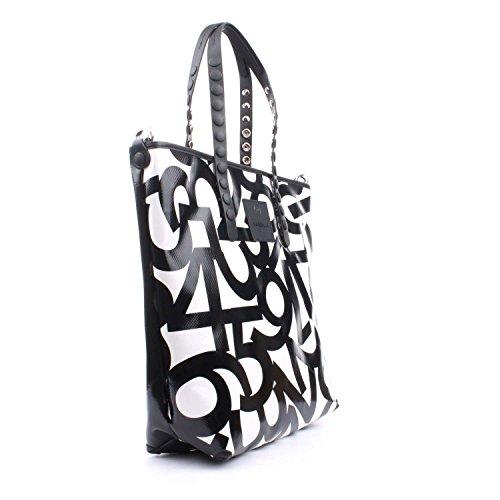 GABS femme sac shopping LUCREZIA-E17 P0083 ESSAI NUMÉROS BLANC NOIR Bianco-nero
