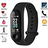 Meya Happy Fitness Band with Blood Pressure Blood Oxygen Check (Non Medical) Live Heart Rate Monitor Bluetooth v4.1 Sports Band and Activity Tracker