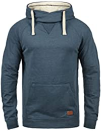 Blend Sales Herren Kapuzenpullover Hoodie Pullover Mit Kapuze  Cross-Over-Kragen Und Fleece… 684a47b216