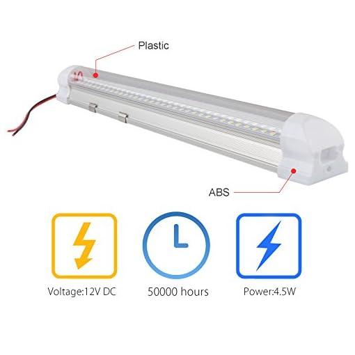 SUPAREE LED Interni Auto 72 LED con a Interruttore ON/off Car Auto Interni Lampada della Luce di Illuminazione della Decorazione Interna dell'automobile, DC 12V Bianco (2 Pezzi+2 x Prolunga)