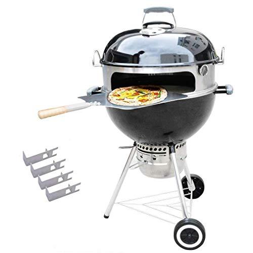 Onlyfire BRK-6023 inox pizza four kit ensemble complet PizzaRing pour Weber 57 cm bouilloire Grill et beaucoup d'autres modèles, pizza au Grill à charbon de bouillo