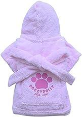 Doggy Dolly DRF018 Bademantel für Hunde, rosa