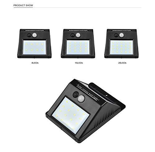 Straßenlaterne LED Solar PIR Motion Sensor Wall Outdoor Wasserdichte Straße Zu Hause Garten Sicherheit Licht Automatisch Ein/aus,White16leds