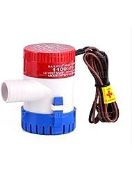 Pompe de cale 350/500/750/1100GPH 12V Plastique submersible de cale pompes à eau, 1100GPH