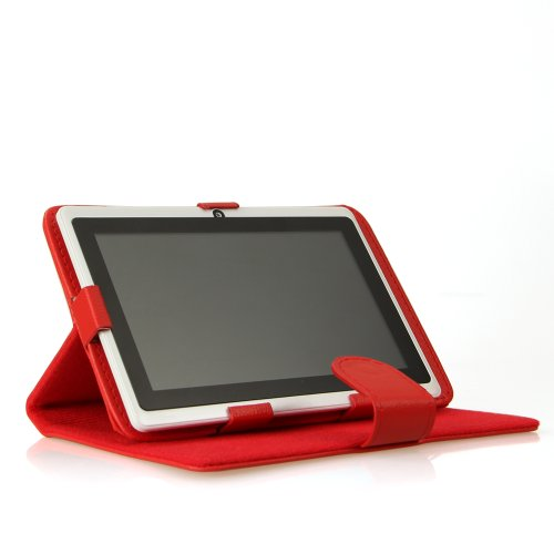 Universal Leder Schutzhülle Ständer 7 Zoll Farbig Für 7 Zoll (17,8cm) Tablet PC Mid Android (Mid Tablet-fall Android)