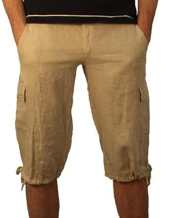 08637 Herren, Jungen Bermudas Shorts Hose, Leinen, beige 50/M.