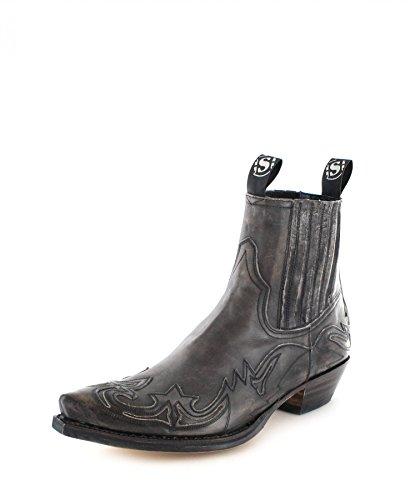 Sendra Boots 4660 Olimpia Antracita Lederstiefelette für Damen und Herren Grau Westernstiefelette, Groesse:43