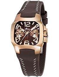 119a094c1d6b Lotus Code - Reloj analógico de mujer de cuarzo con correa de piel marrón -  sumergible