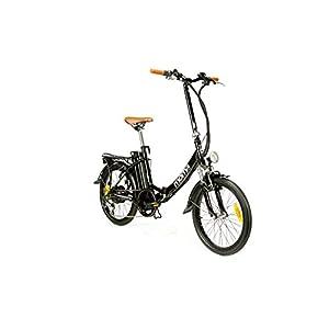 "Moma Bikes Bicicleta Electrica, Plegable, Urbana EBIKE-20 "", Alu. SHIMANO 7V Bat. Ion Litio 36V 16Ah"