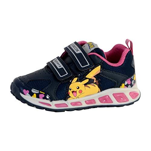 Geox sneaker jr girl shuttle luci j8206d - 30 - navy-fuchsia 4ff3eb6ffec