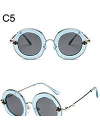 3ddef10db84ca qbling technolog Lunettes de soleil femme ronde Retro Brand designer  anglais Lettres Bee cadre métallique Circle