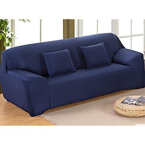 Zerci Elegante Comfort collezione Luxury Mobile morbido Jersey Elasticizzato Slipcover, Navy, Sofa - Navy Blue Slittamento