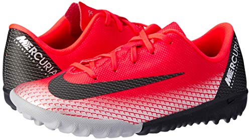 Nike Unisex-Kinder Vaporx 12 Academy Gs CR7 TF Fußballschuhe, Rot (Bright Crimson/Black-Chrome-Da 600), 21 EU