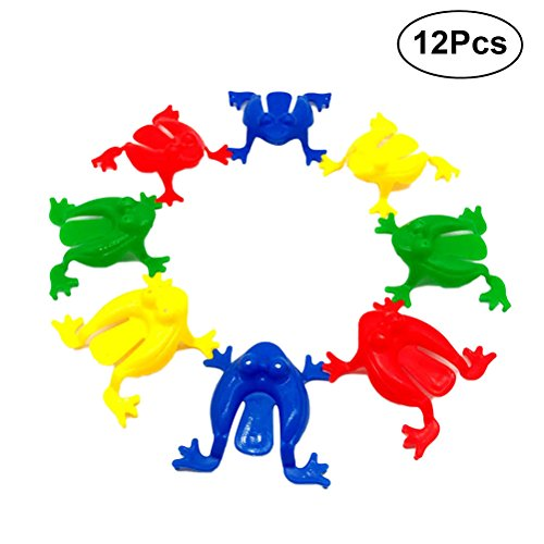 TOYMYTOY Kunststoff Springen Leap Frog Toy | 12Pcs, Partys Party Geschenke Party Favors für Kinder