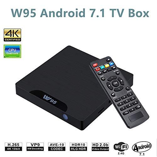 W95 Android 7.1 TV Box mit LED (Amlogic S905W Quad Core, 2GB RAM 16GB ROM, 4K HDMI, 2.4G WiFi, RJ45) Smart TV Box