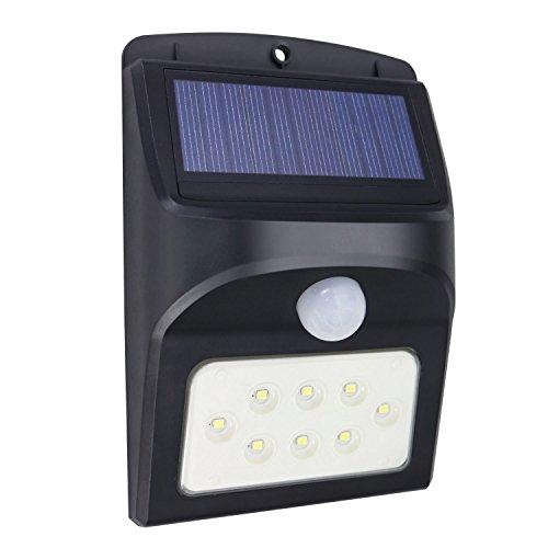 Memoru LED Solarleuchte mit Bewegungsmelder außen Wandleuchte IP65 Wetterfest Solarlampen Außenleuchten Pfostenlichter für Sicherheit im Außenbereich Garten Balkon Einfahrt Treppen Außenwand (3 Modi)