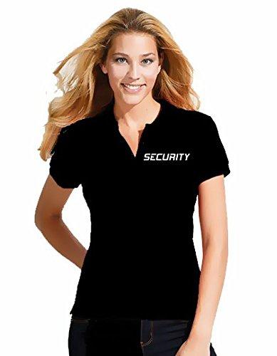 Security-Polo da donna + Cap. Set Nero S M L