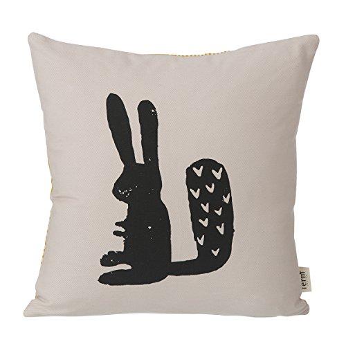 Ferm Living - Kissen Hase - Bio-Baumwolle 30 x 30 cm