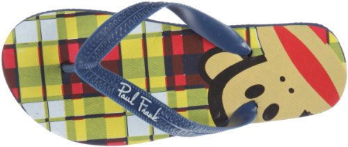 Paul Frank Las Vegas plaid blue PFI0219B, Tongs garçon Bleu (TR-B2-Bleu-101)