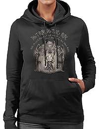 Doctor Who Weeping Angel Tim Burton Dont Blink Women's Hooded Sweatshirt