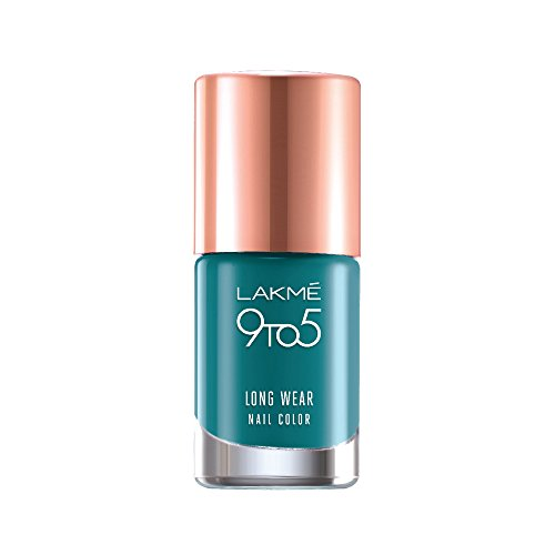 Lakme 9 to 5 Long Wear Nail Color, Teal Deal, 9ml