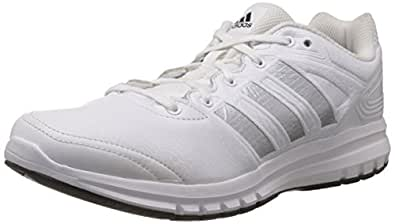 adidas Men's Duramo 6 LEA M White and Silver Running Shoes - 7 UK
