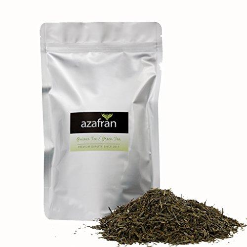 Grüner Tee - Japanischer BIO Sencha Grüntee - Original Uchiyama Sencha aus Japan (250g) von Azafran® - ca. 100 Tassen Genuss (Grüner Tee)