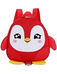 21940d7f3d Driverder Exquisiter und praktischer Rucksack Kinder Schultasche Cartoon  Pinguin Form Kindergarten Spielzeug Rucksack (Rot)