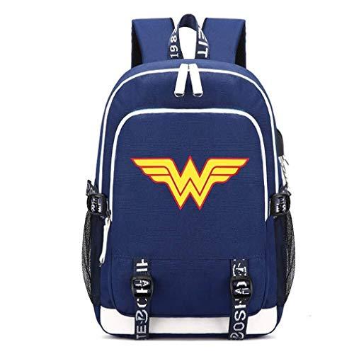 Wonder Für Woman Kostüm Jugendliche - GTYY Wonder Women Rucksack Kostüm Oxford Tuch Schule Schulter Leichte Taschen for Jugendliche Im Freien Requisiten 751 (Color : 17inches, Size : 2)